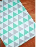 Ткань Треугольники мятно-серые