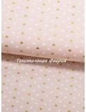Ткань Американский хлопок 100%, Сердца розовые с глитером, ширина 110 см, плотность 155 г/м2