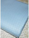 Ткань 100 % хлопок, Горох голубой 1 мм, ширина 110 см, плотность 150 г/м2, размер гороха 1 мм.