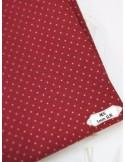 Ткань 100 % Хлопок, Горох бордовый , Плотность 150 г/м2 , ширина 110 см