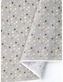 Ткань 100 % хлопок, Горох разноцветный на сером фоне 3 мм, ширина 110 см, плотность 155 г/м2