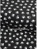 Ткань Американский 100 % Хлопок, Лапки на черном фоне, Плотность 150 г/м2 , ширина 110 см