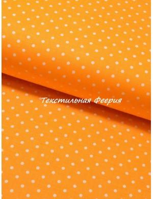 Хлопок горох оранжевый 3 мм