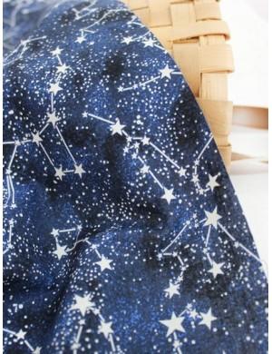 Ткань 100 % хлопок, Созвездия синие, плотность 155 г/м2, ширина 110 см
