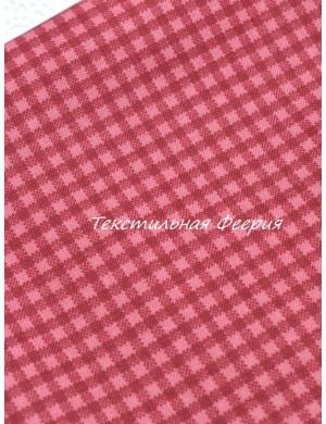 Ткань хлопок Клетка бордовая 8 мм