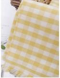100 % хлопок Клетка желтая 6 мм