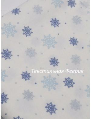Ткань Новогодняя Снежинки
