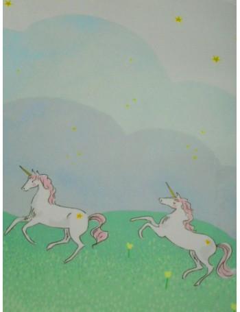 Плюш Единороги мятно-голубые