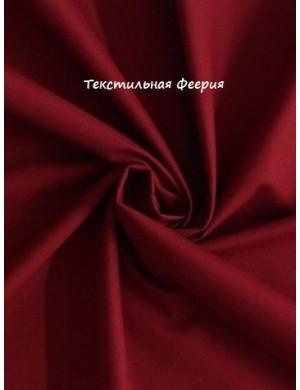 Ткань хлопок Однотонная красно-бордовая
