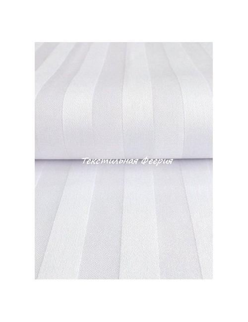 Ткань сатин Белая полоса