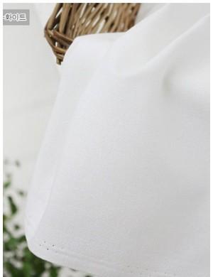 Ткань 100 % хлопок, Однотонная белая 301, Ширина 110 см, плотность 150 г/м2