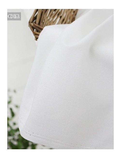 Ткань хлопок Однотонная белая 301