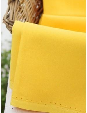 Ткань 100% хлопок, Однотонная желтая, ширина 110 см, плотность 155 г/м2, производитель Корея