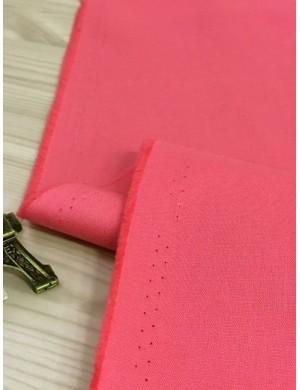 Ткань Хлопок Однотонная коралово-розовая