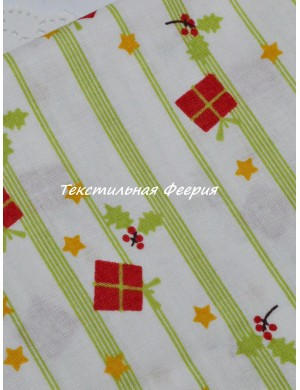 Ткань Новогодняя Подарки