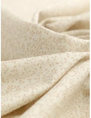 Ткань Веточки на молочном фоне