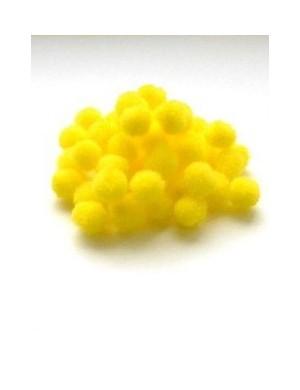 Помпон жёлтый 1 см, набор 50 шт.
