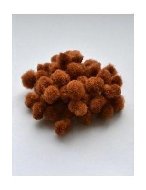 Помпон коричневый 1 см, набор 50 шт.