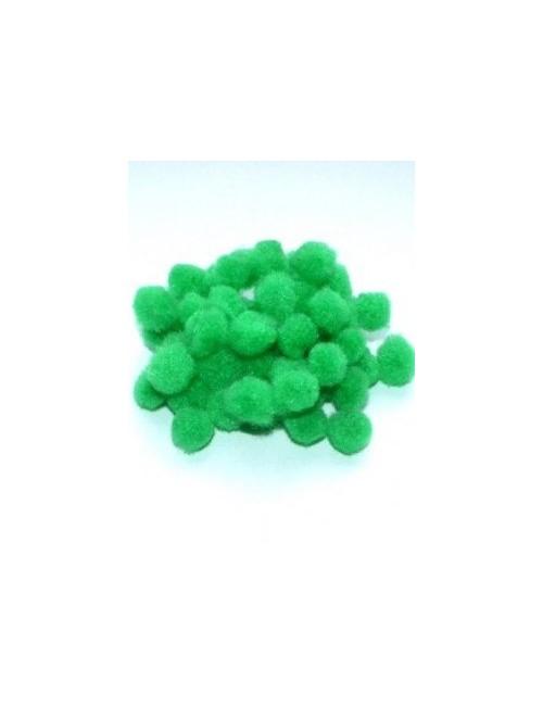 Помпон зелёный 1 см, набор 50 шт.