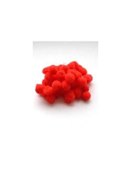 Помпон красный 1 см, набор 50 шт.