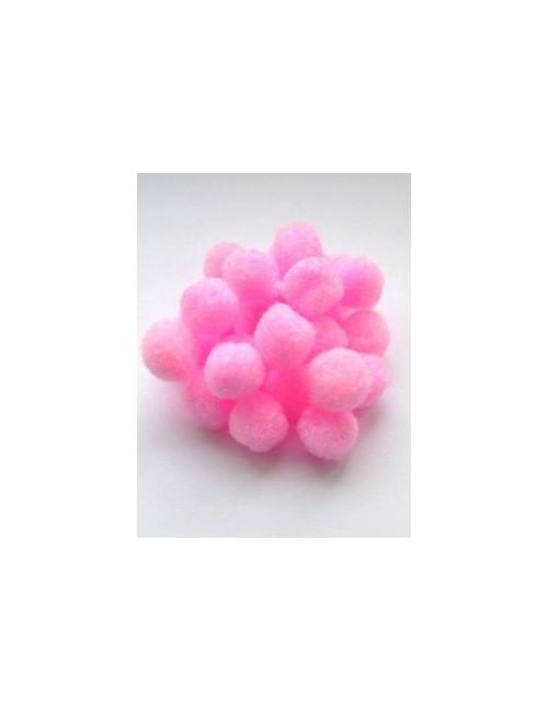 Помпон розовый 1,8 см, набор 25 шт.