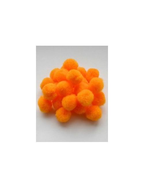 Помпон оранжевый, 1,8 см, набор 25 шт.