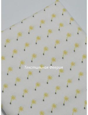 Ткань Одуванчики горчичные