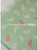 Ткань Зайки на зеленом