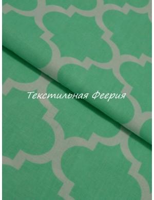 Ткань Восточные мотивы зеленая