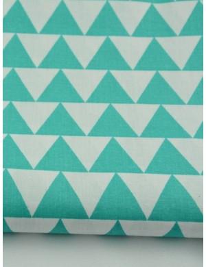 Ткань Треугольники зеленые