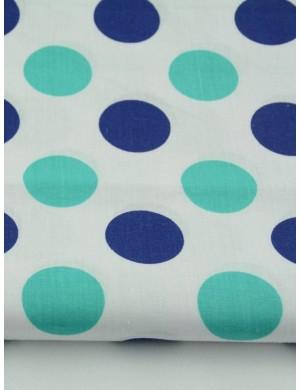 Ткань Круги сине-зеленые