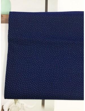 Ткань хлопок Горох синий 1 мм