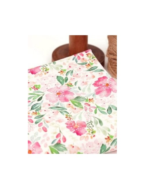 Ткань хлопок Акварельные цветы