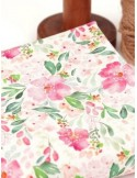 Ткань, 100 хлопок, Акварельные цветы, ширина 110 см, плотность 155 г/м2, производитель Корея