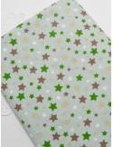Ткань хлопок Звезды разноцветные