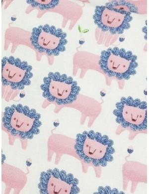 Ткань оксфорд Розовые львы