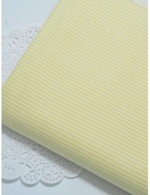Ткань хлопок Полоска жёлтая
