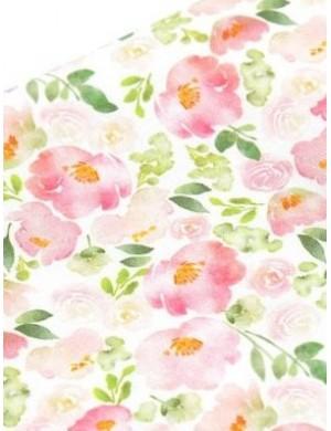 Ткань хлопок Акварельные цветочки