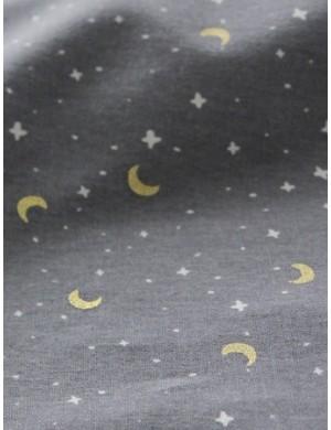Ткань хлопок Звездное небо на сером фоне