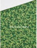 Ткань Новогодняя Листики омелы