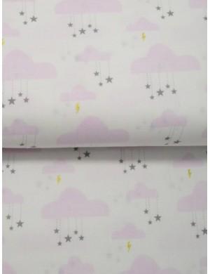Ткань Тучки нежно-розовые