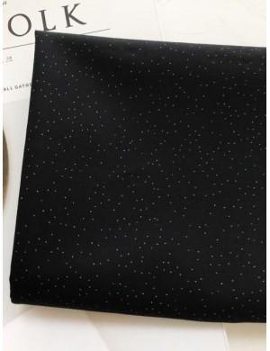 Ткань Белый горох на чёрном 1 мм