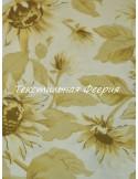 Ткань 100 % Хлопок, Цветы подсолнуха,Плотность 155 г/м2, ширина 110 см.