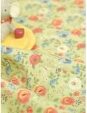 Ткань хлопок Цветы на зеленом