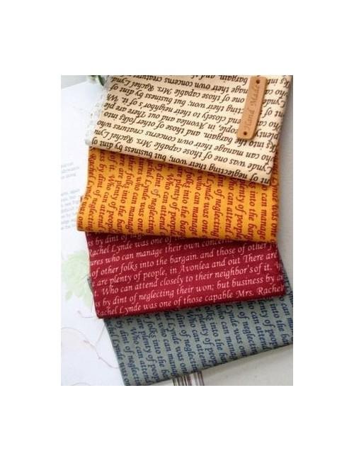 Набор тканей Письмена 4 отреза