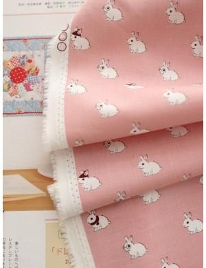 Ткань Хлопок Кролики в шляпке
