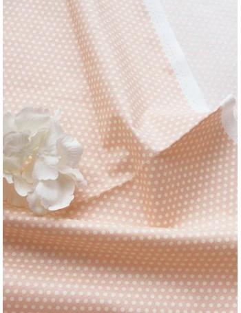Ткань Горох персиковый