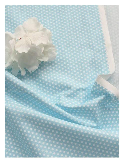 Ткань Горох голубой 3 мм.
