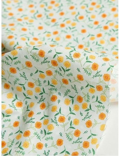 Ткань Одуванчики, зеленоватая