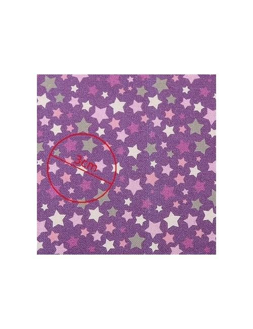Ткань хлопок Звезды сиреневые